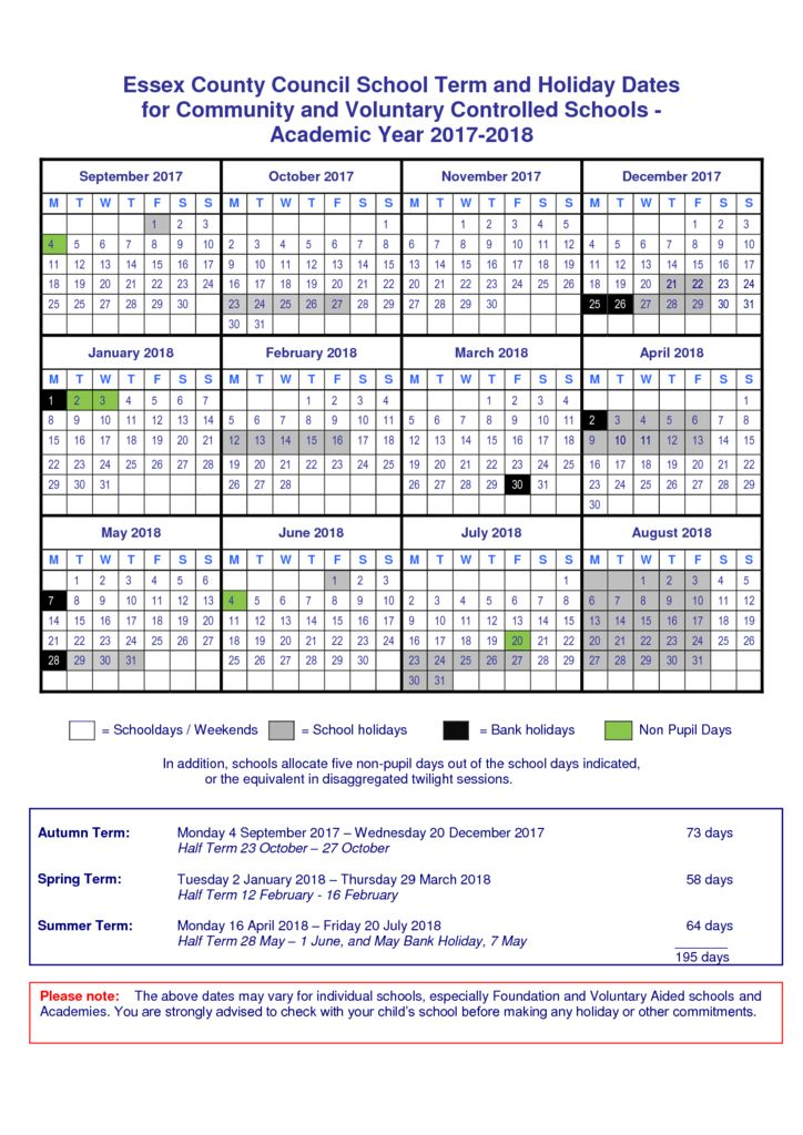 thumbnail of School Term Dates 2017-18 with NPD