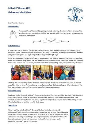 Newsletter - 25th October 2019