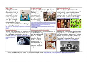 thumbnail of History Websites for Home learning