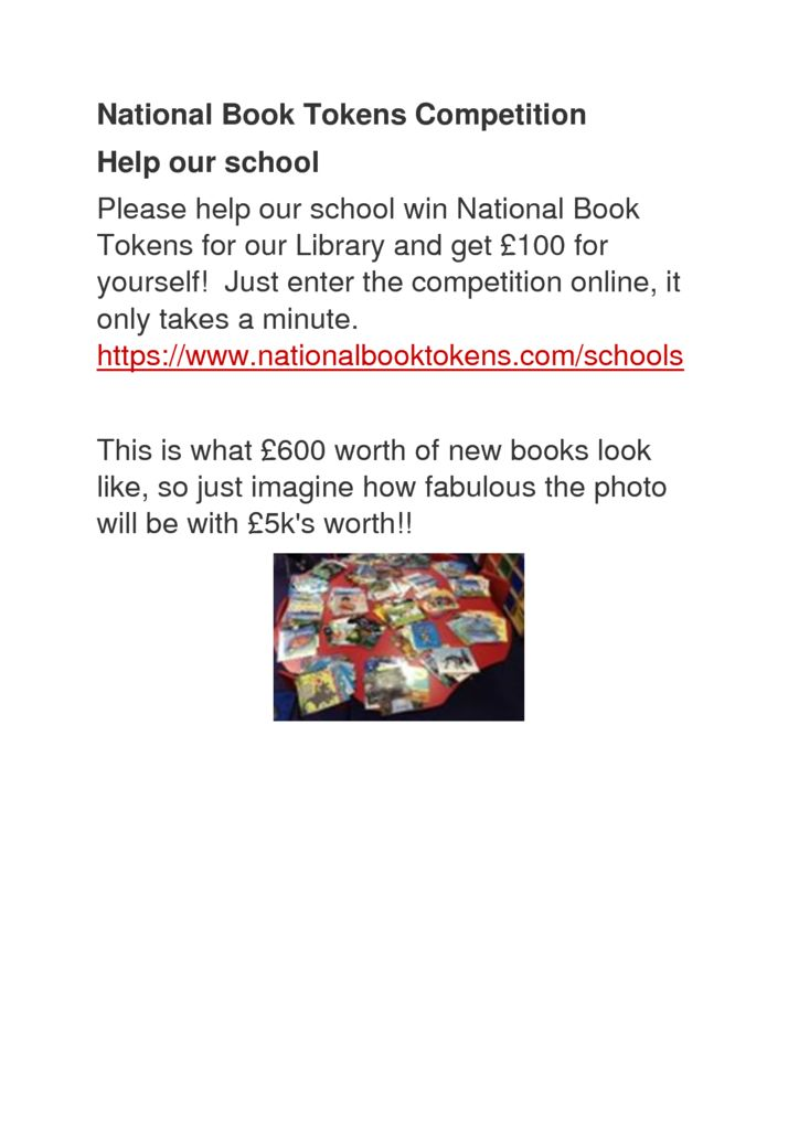 thumbnail of National Book Tokens Competition