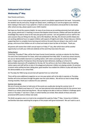 Newsletter 5th May 2021