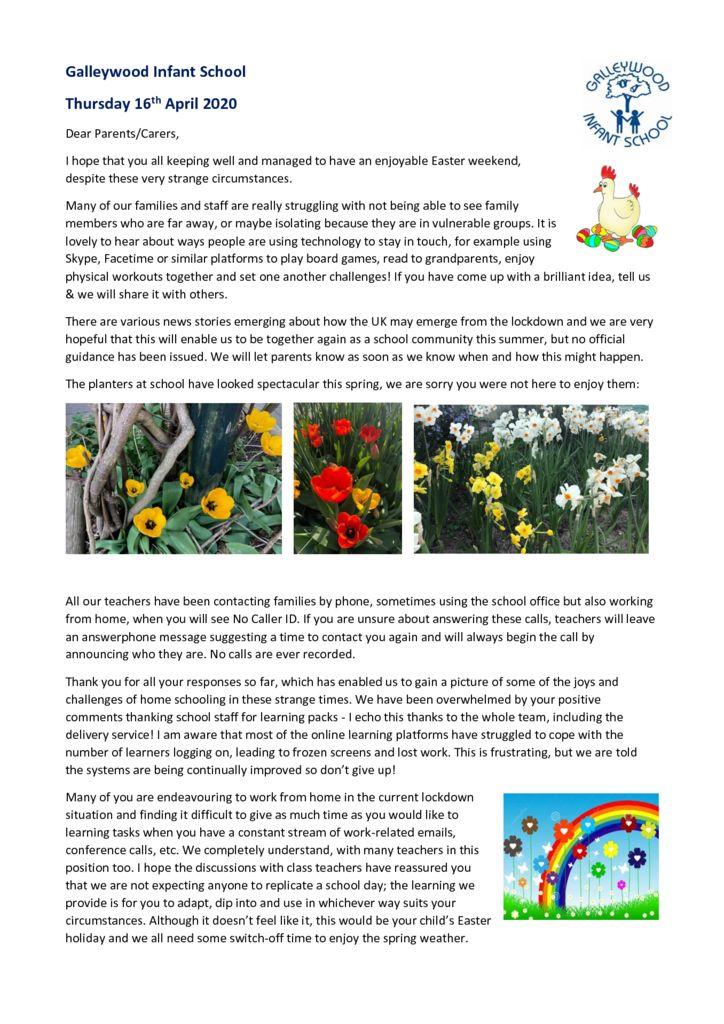 thumbnail of Newsletter 16th April 2020