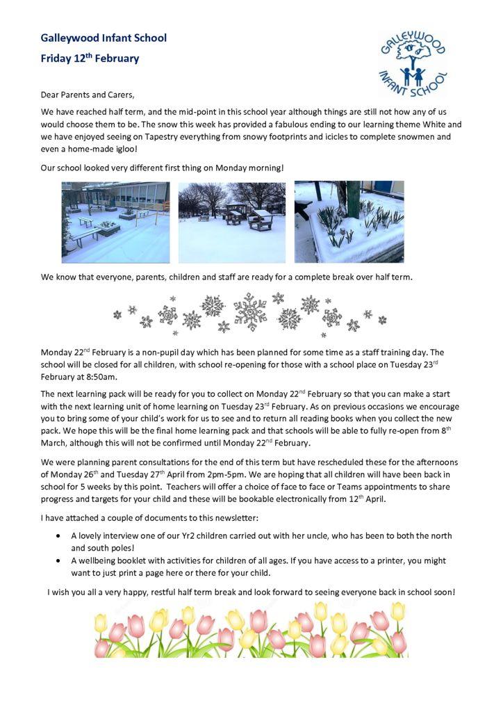thumbnail of Newsletter 12th February 2021
